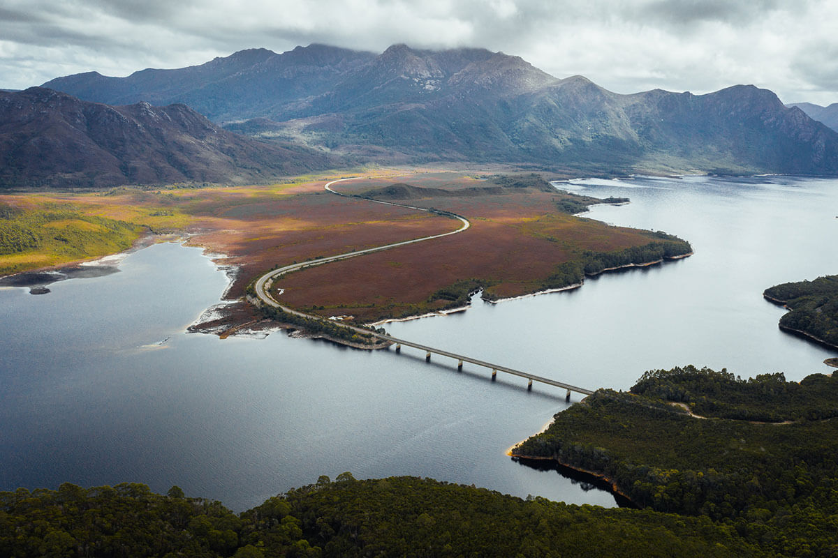 Lyell Highway Tasmanien