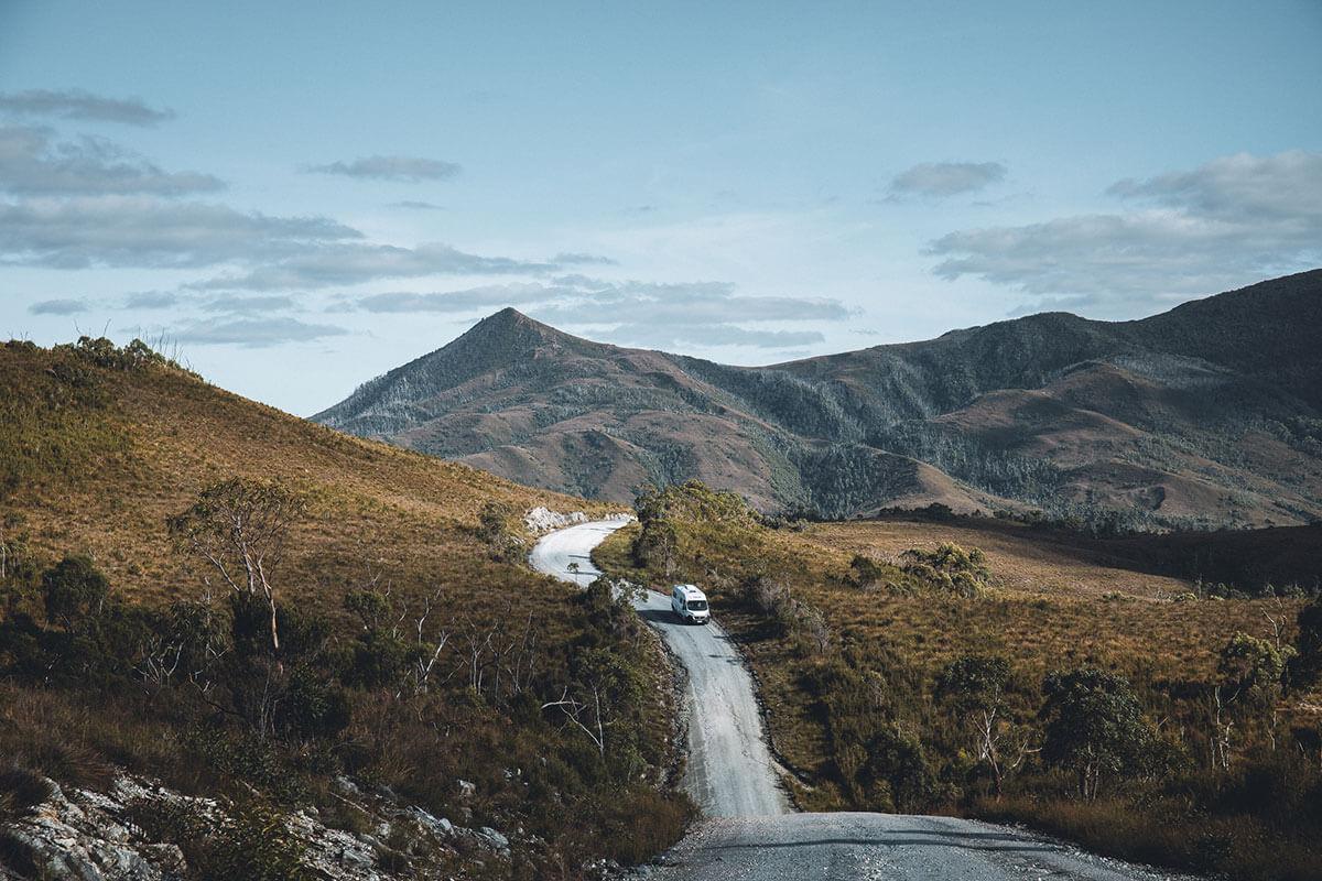 Western Explorer Road Tasmanien