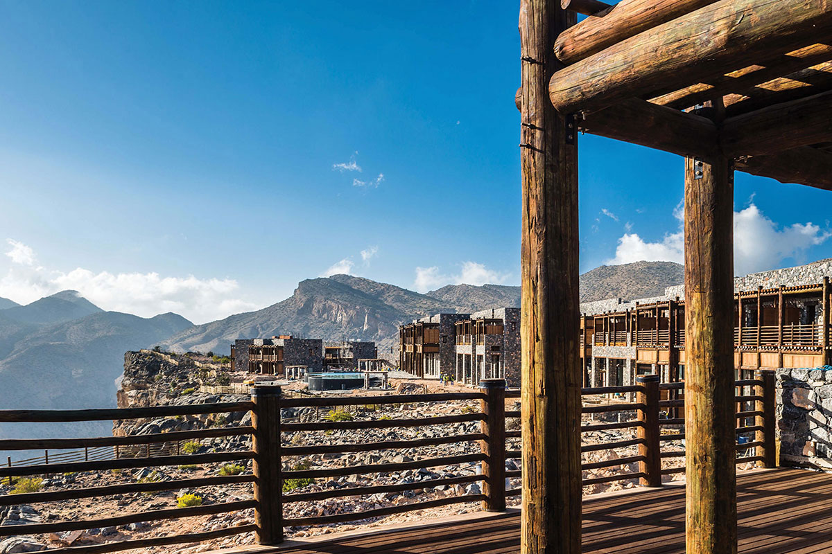 Alila Jabal Akdhar Aussicht. Luxusreise