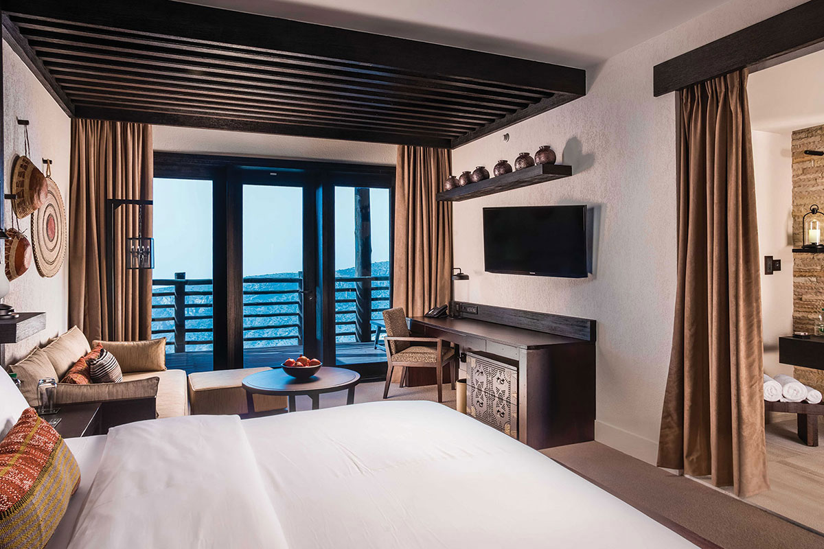 Alila Jabal Akdhar Zimmer. Luxusreisen