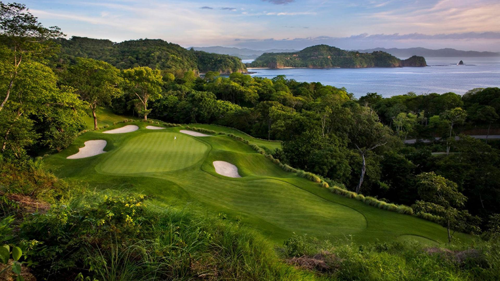 Golfplatz. Luxusreise