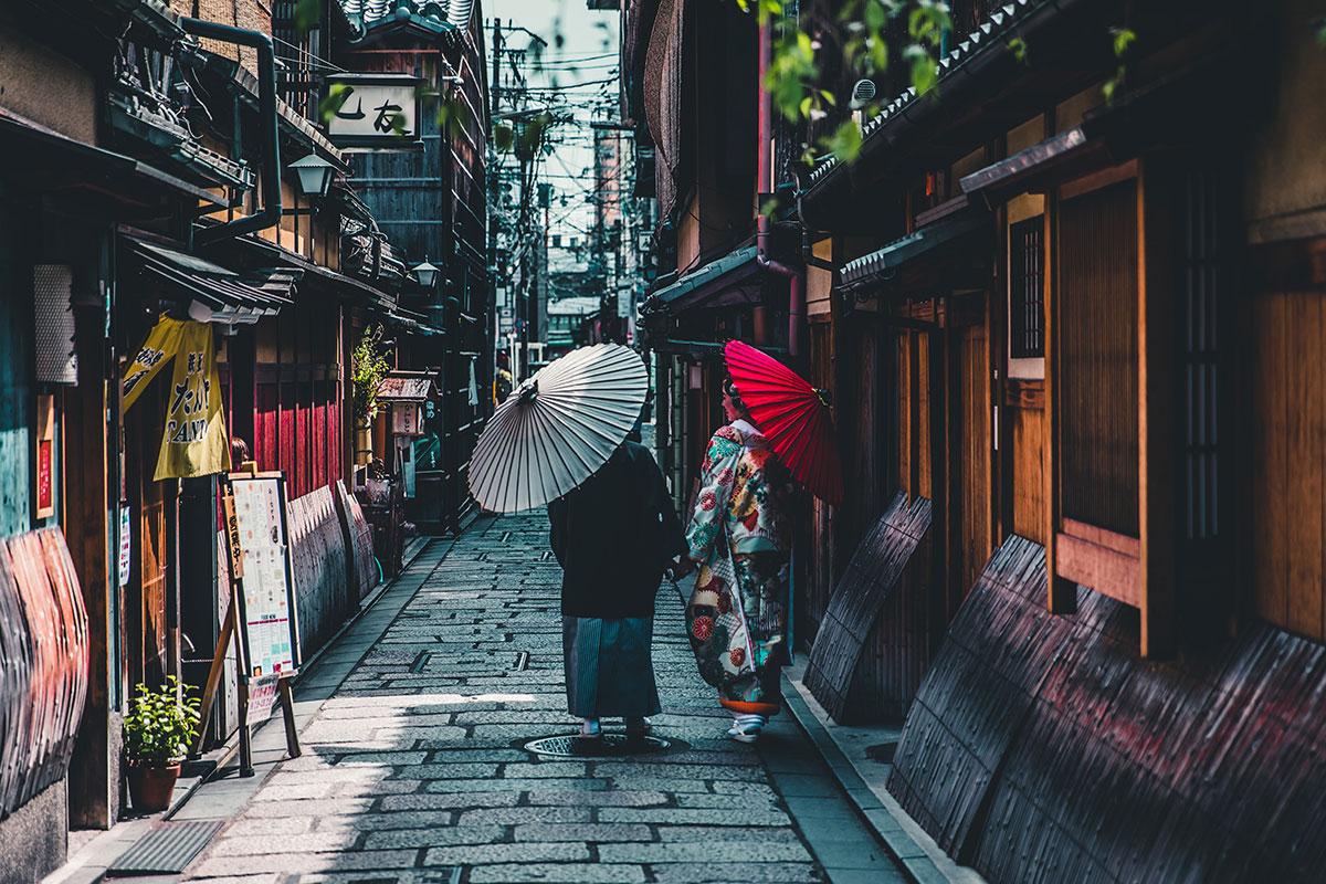 Kyoto Gasse. Luxusreisen