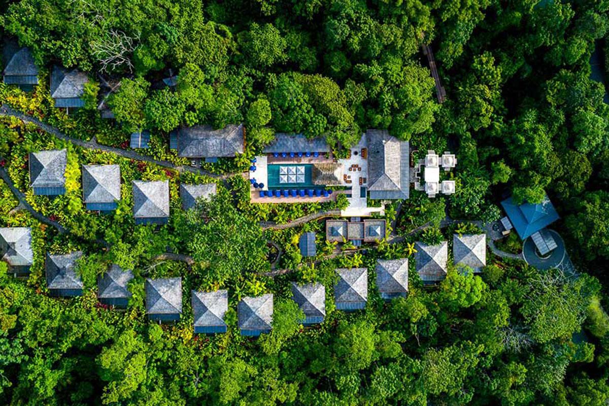 Nayara Springs von oben. Luxusreisen