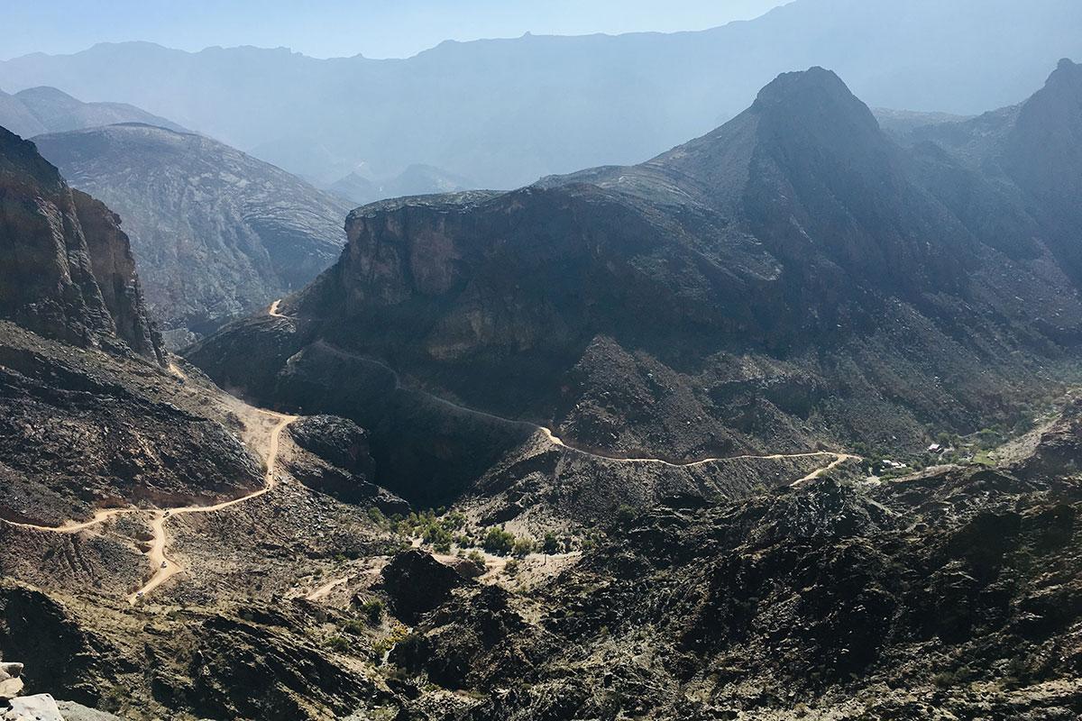Oman Landschaft. Luxusreise