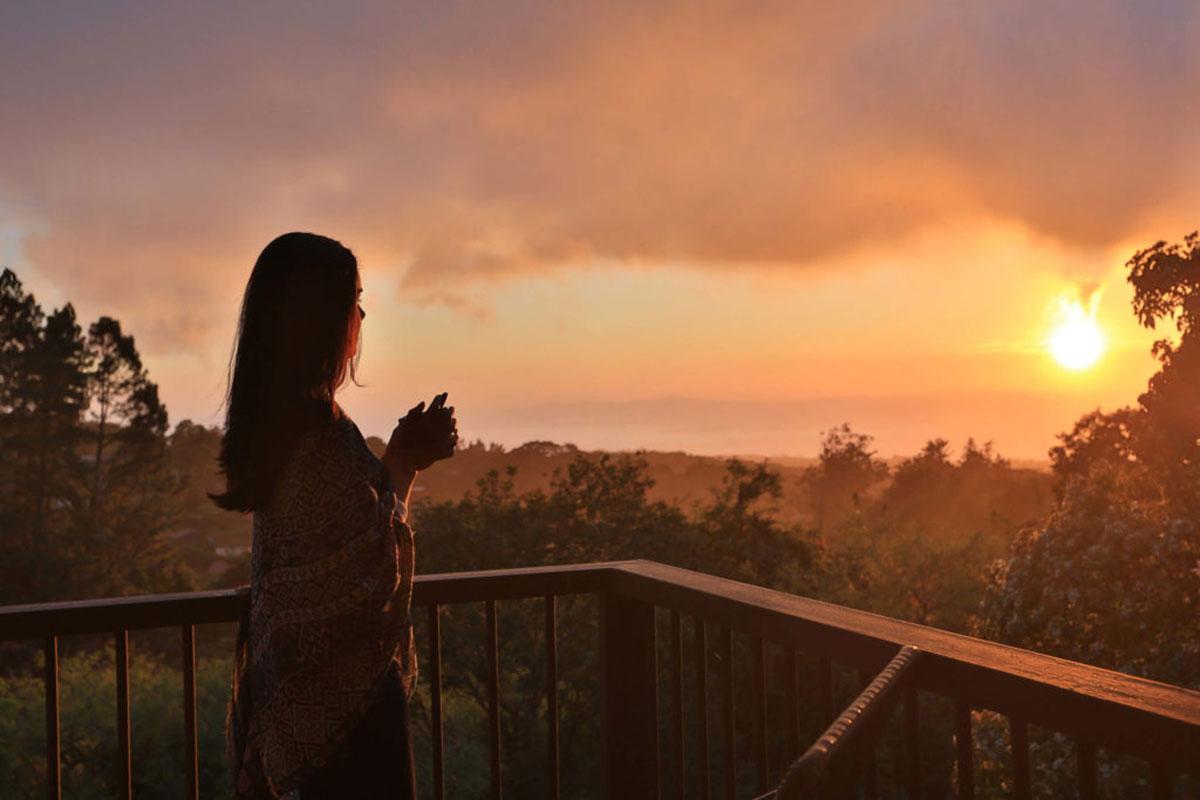 Sonnenuntergang. Luxusreise