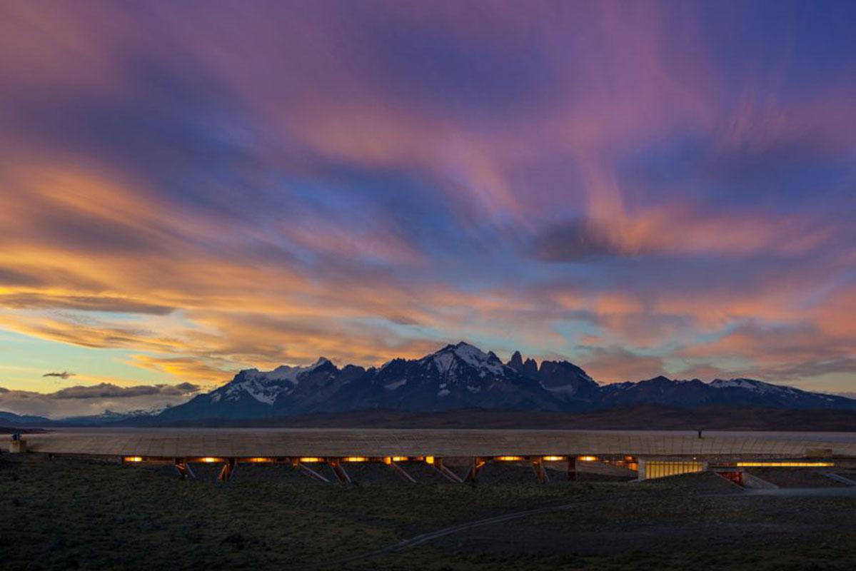 Beeindruckender Sonnenuntergang in Chile