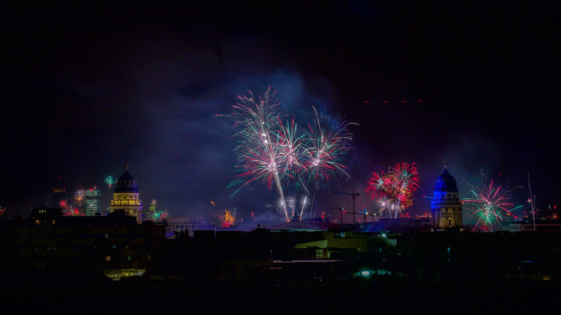 Feuerwerk über Berlin. Luxusreisen