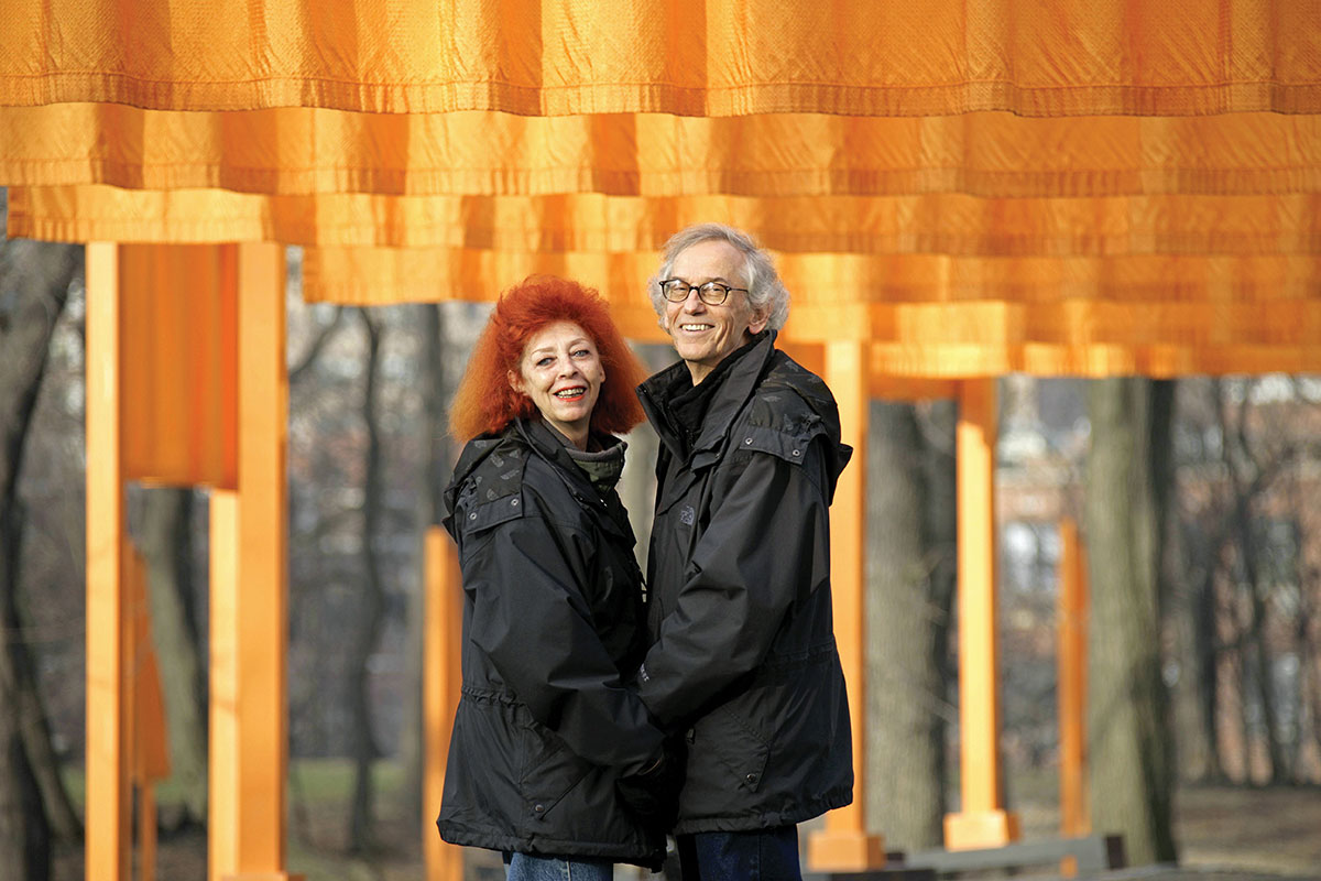 Christo and Jeanne-Claude at The Gates, February 2005