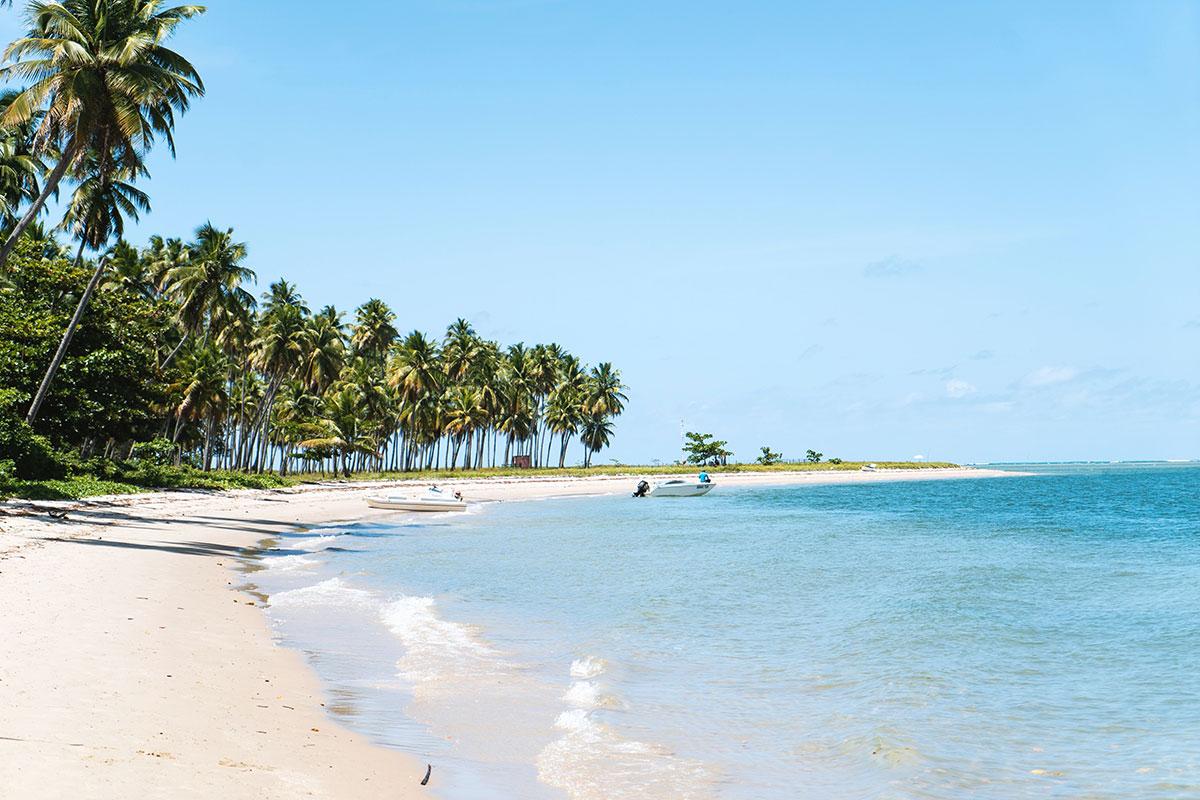 Weite Strände in Brasilien. Luxusreisen