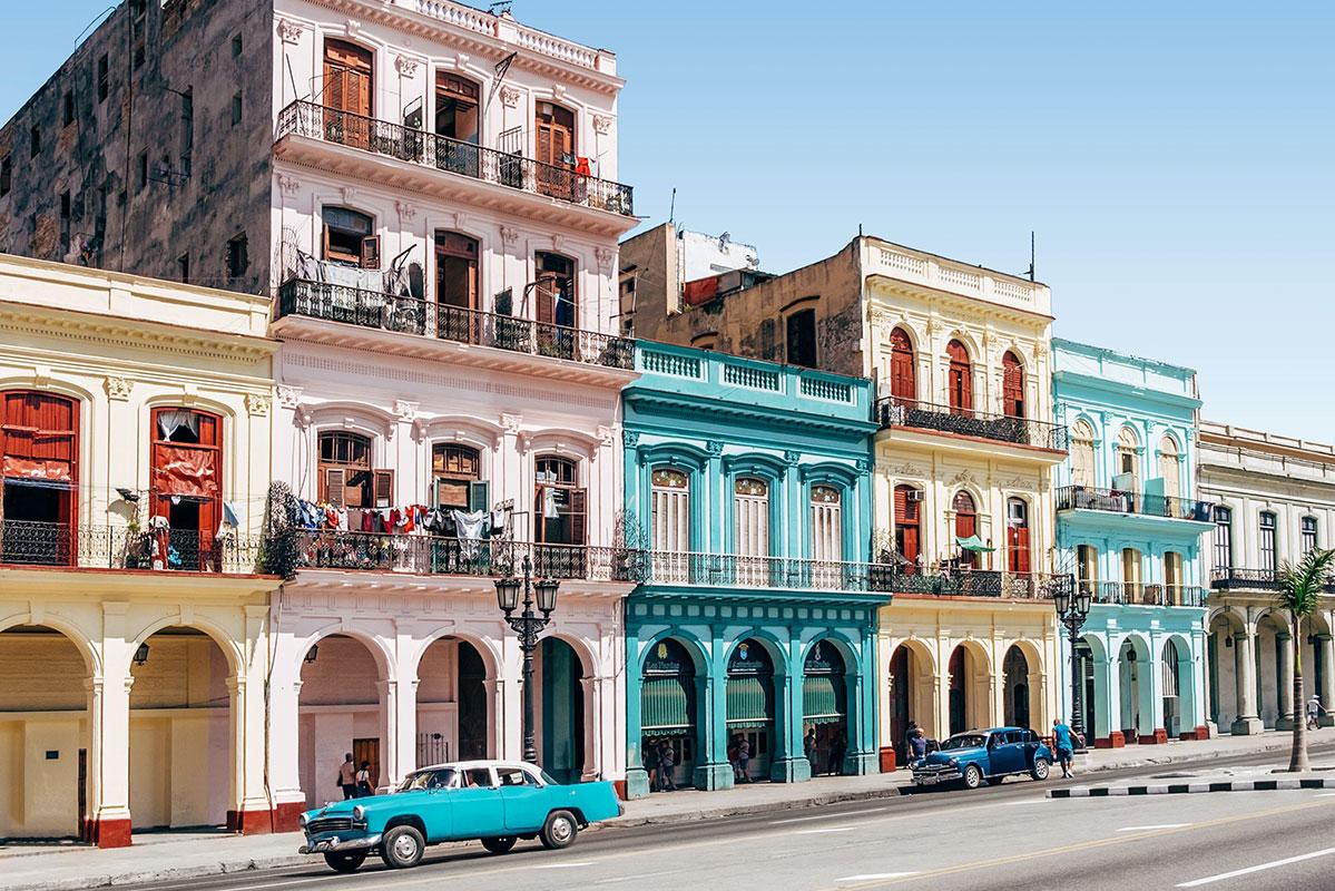 Die bunten Straßen auf Kuba. Luxusreisen