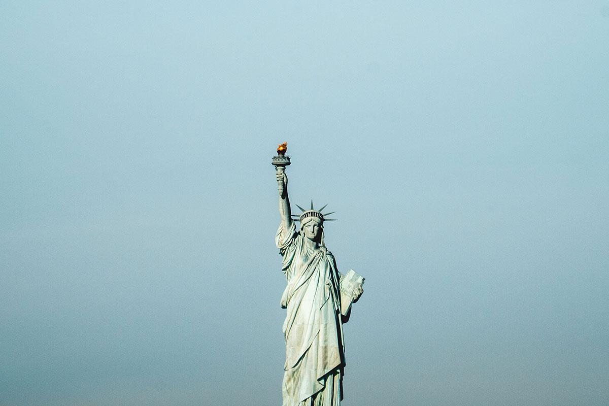 Das Wahrzeichen des Stadt: die Freiheitsstatue. Luxusreisen