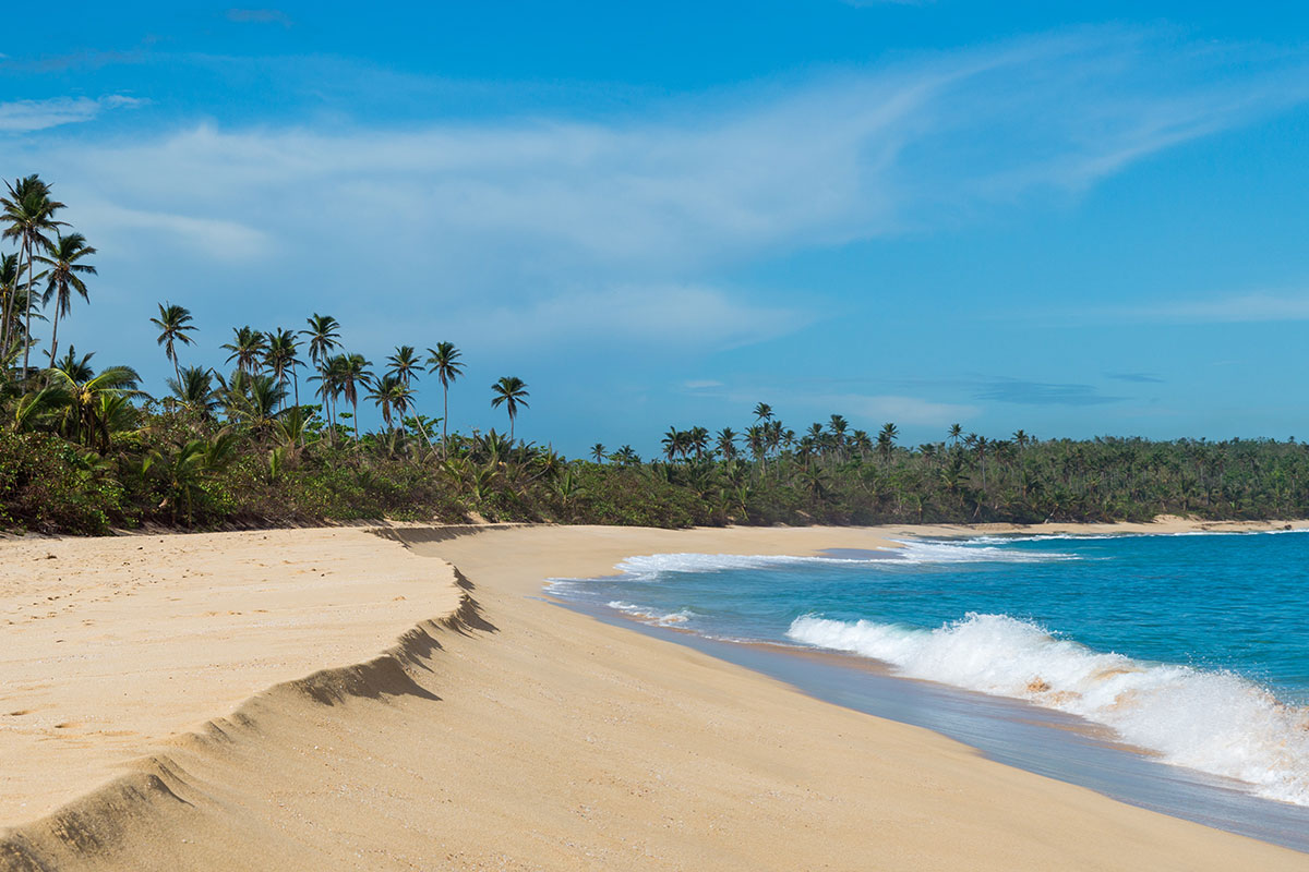 Sonne, Meer und Sandstrand in Puerto Rico
