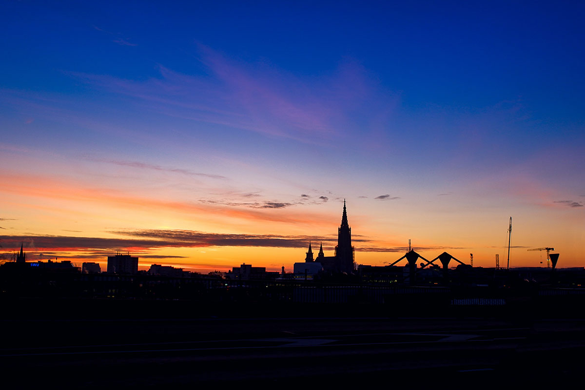 Blick auf Ulm und das Ulmer Münster. Luxusreisen