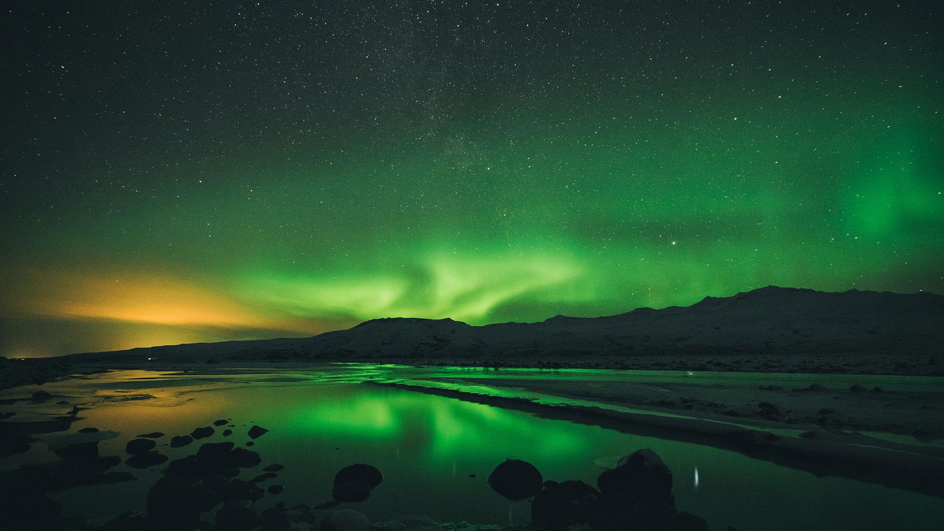 Polarlichter in Island. Luxusreisen