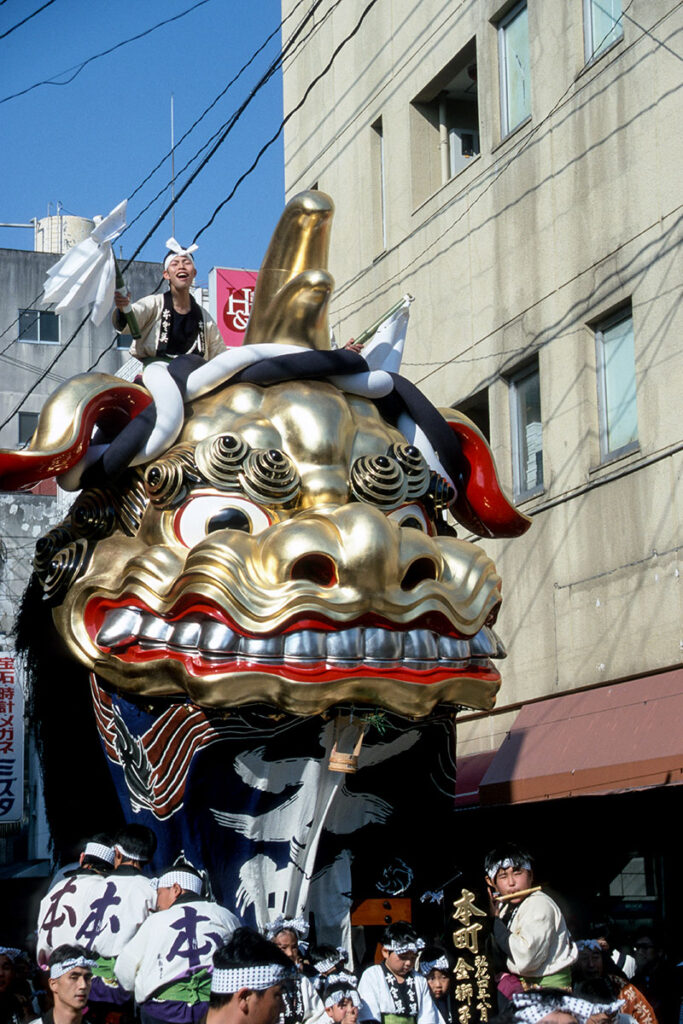 Traditionelles Kunchi-Festivals in Kyushu. Luxusreise