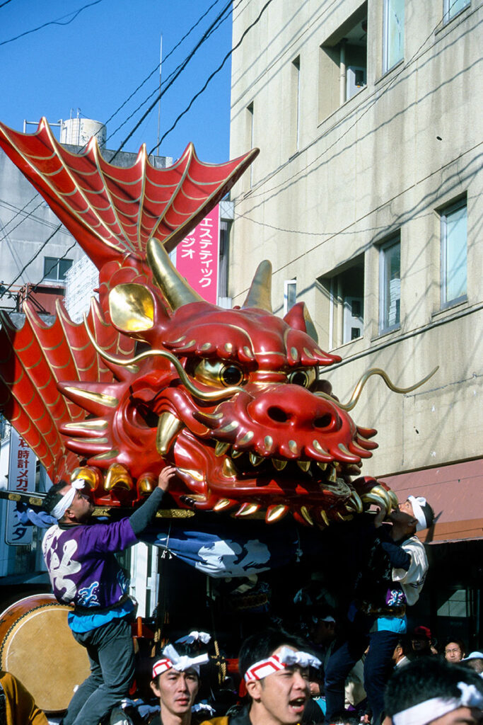 Traditionelles Kunchi-Festivals in Kyushu. Luxusreisen