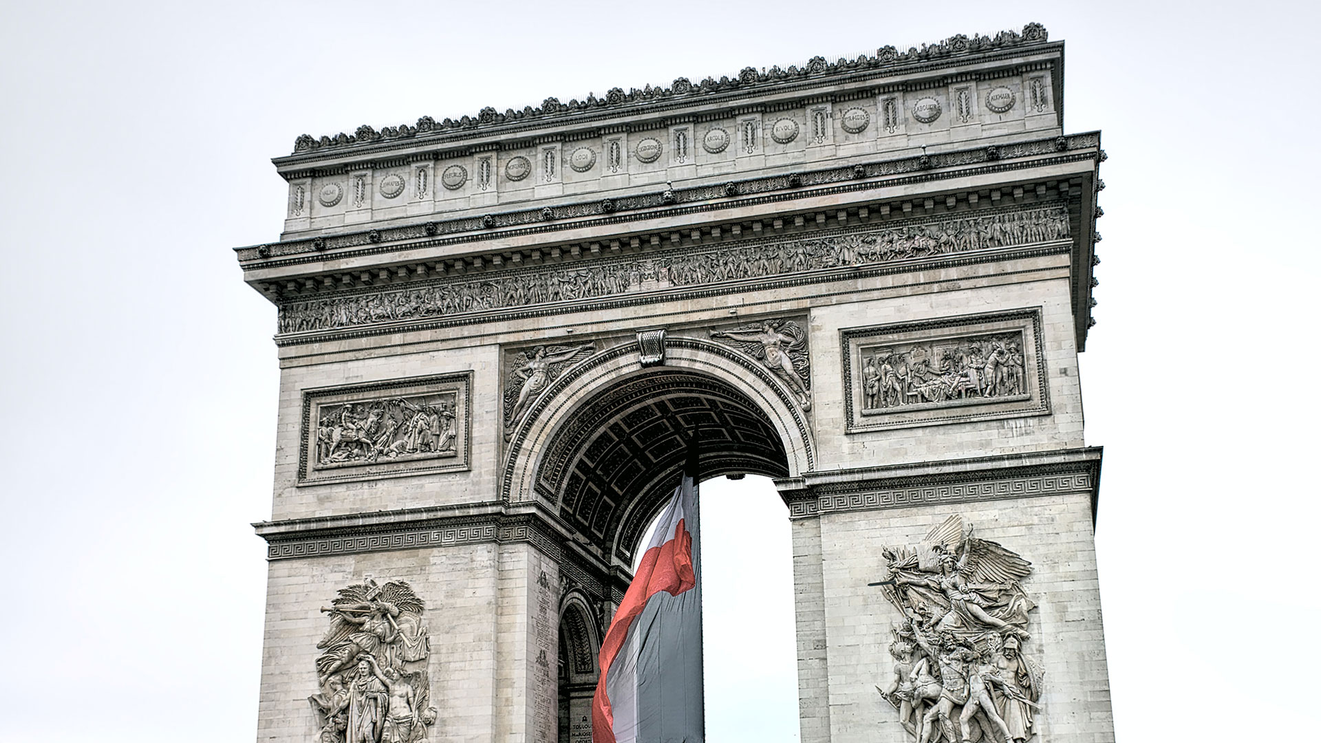 Arc de Triomphe in Paris. Luxusreisen