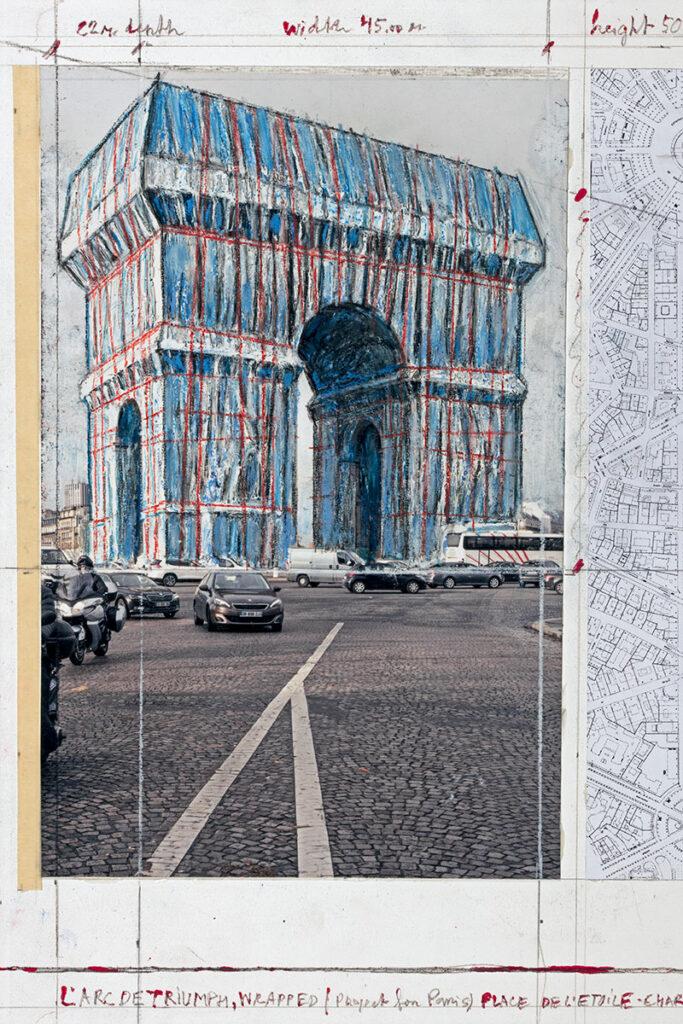Christo L'Arc de Triumph, Wrapped (Project for Paris) Place de l'Etoile - Charles de Gaulle
