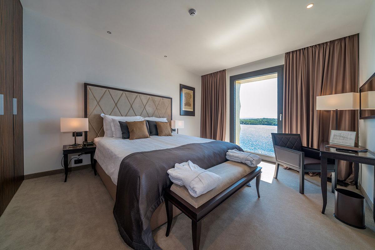 Bellevue Superior City Hotel Sibenik: Zimmer mit Meerblick. Luxusreisen