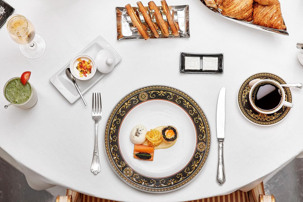 Feines griechisches Essen im Hotel Grande Bretagne in Athen