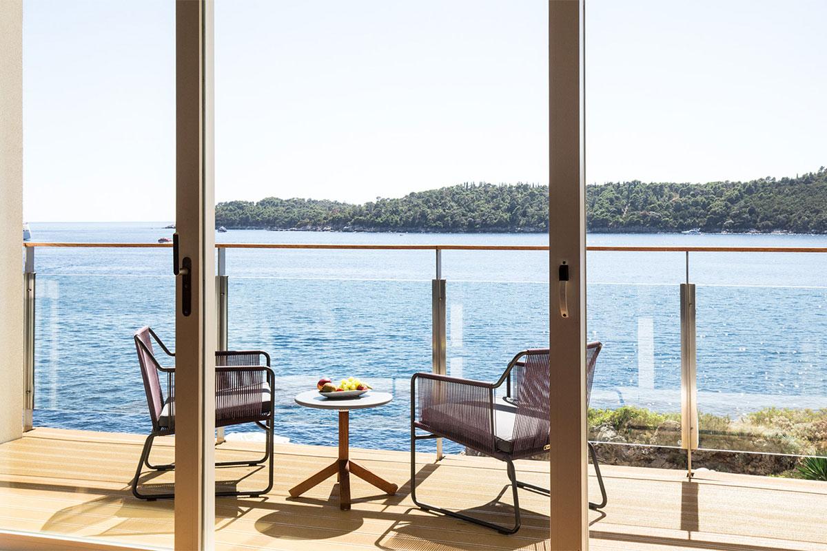 Hotel Villa Dubrovnik: Balkon mit Traumaussicht. Luxusreisen