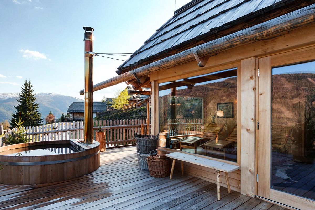 Wellness und Wohlfühlen mitten in den Bergen. Luxusreisen