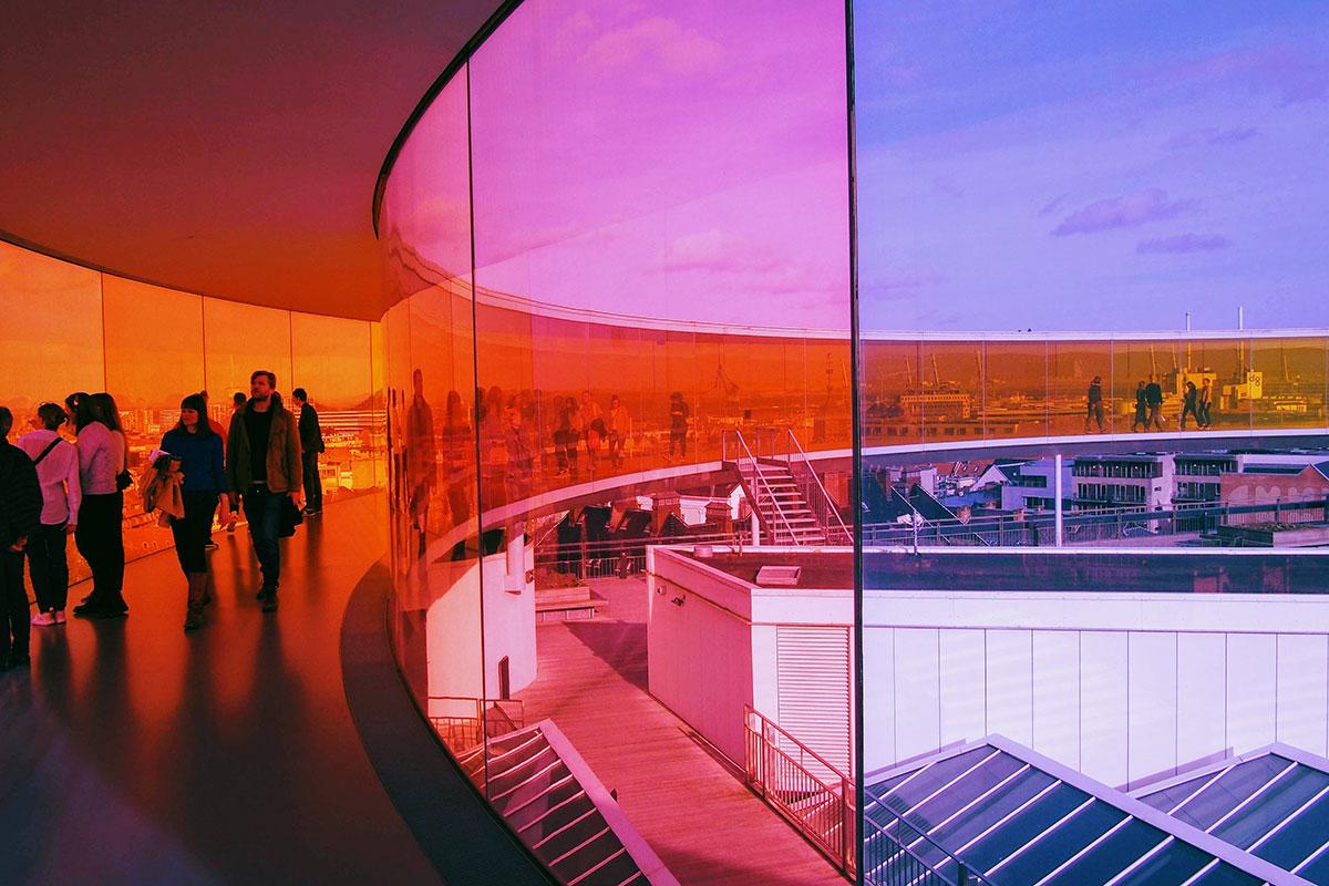 Das ARoS Aarhus Kunstmuseum ist eines der größten Kunstmuseen Nordeuropas.