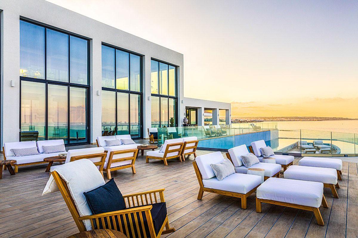 Sonnenuntergang auf Kreta. Luxusreise