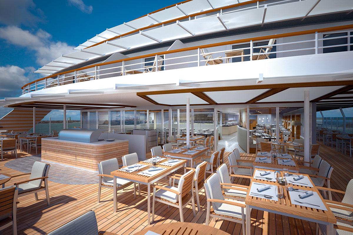 HANSEATIC inspiration: an Deck. Luxusreise