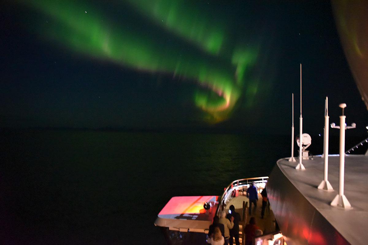 Polarlichter. Luxusreisen